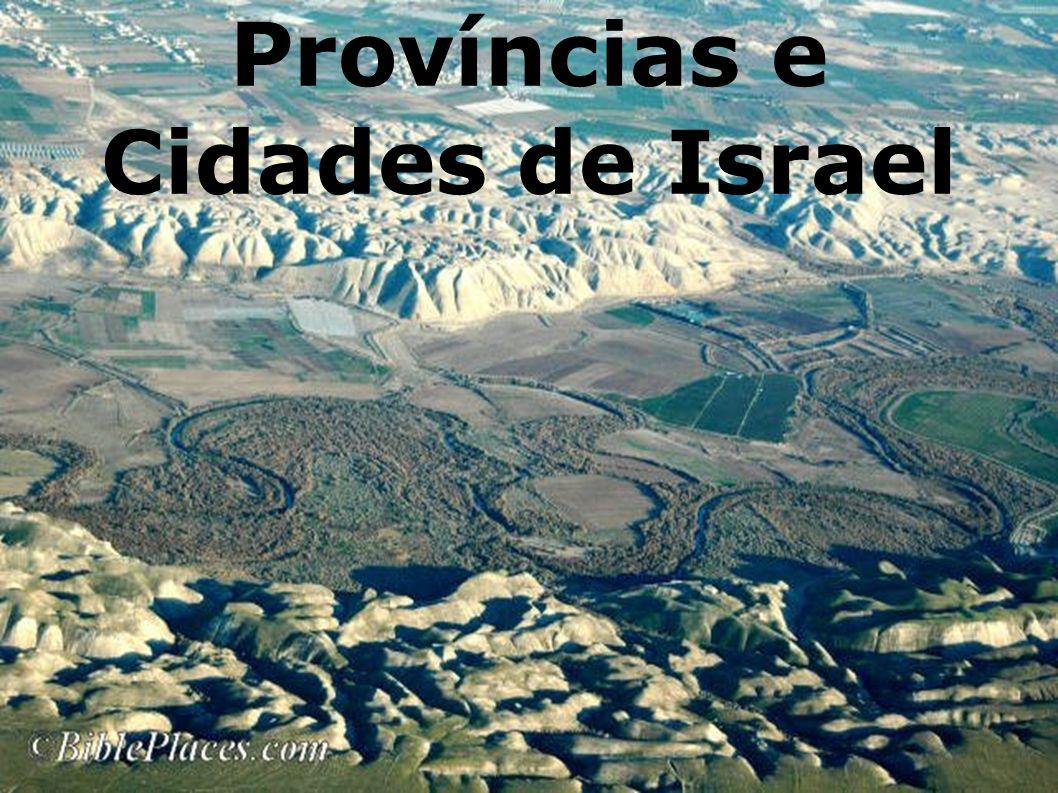 Resumo histórico de Israel até o tempo presente Conquistada pelos israelitas sob Josué em 1451- 1445 AC.