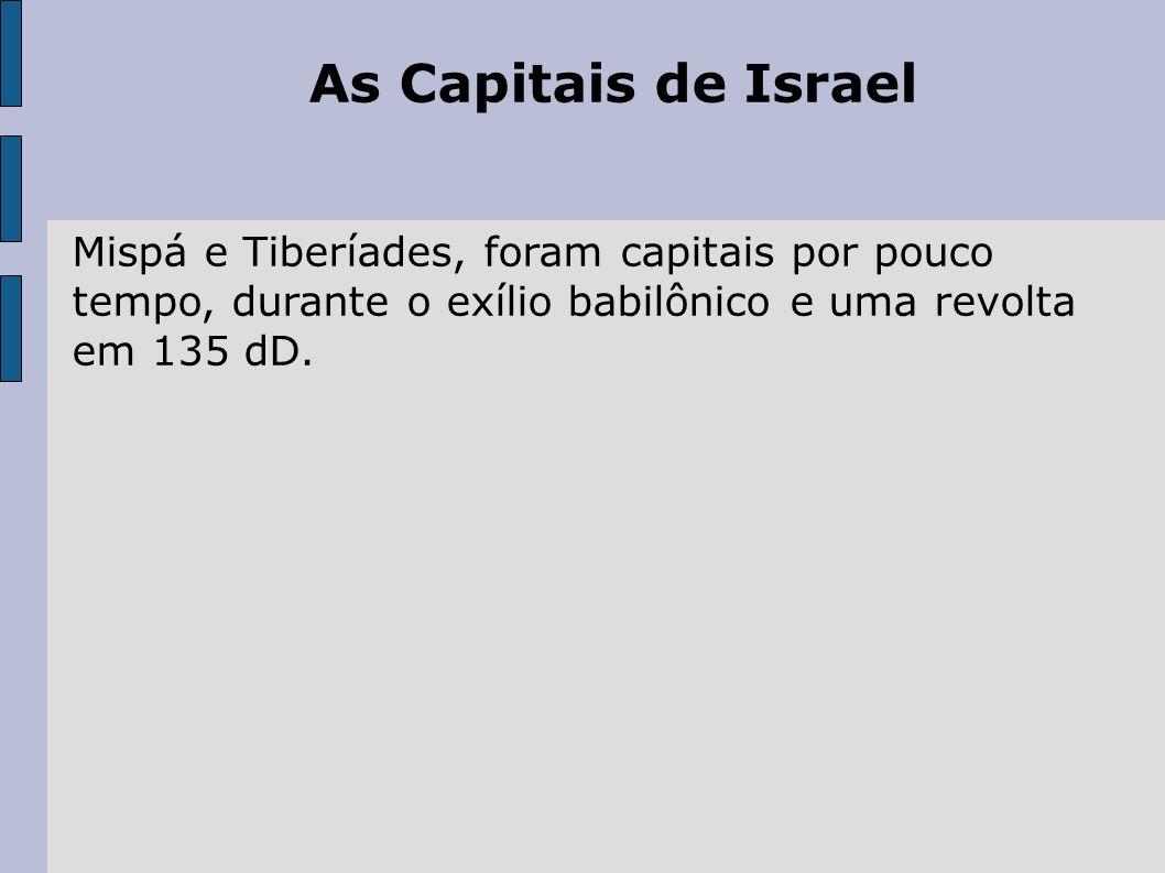 Resumo histórico de Israel até o tempo presente Como nação soberana: a partir de 14/5/1948.