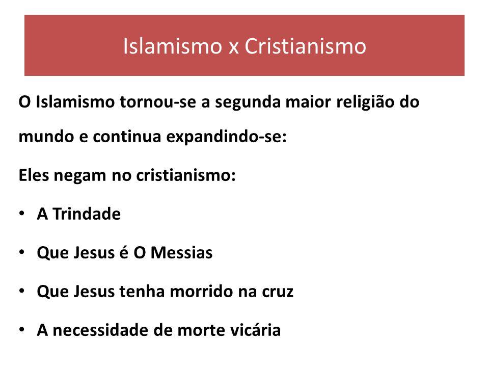 Islamismo x Cristianismo O Islamismo tornou-se a segunda maior religião do mundo e continua expandindo-se: Eles negam no cristianismo: A Trindade Que