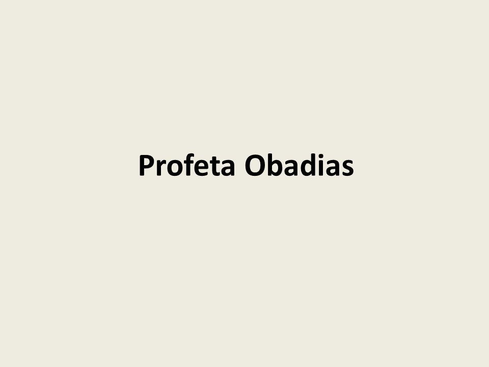 Profeta Obadias