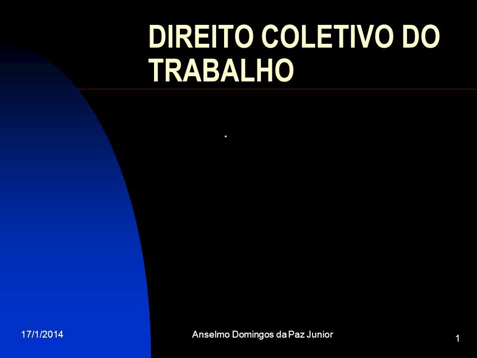 17/1/2014Anselmo Domingos da Paz Junior 1 DIREITO COLETIVO DO TRABALHO.