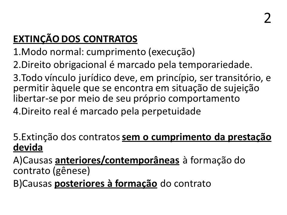 13 EXCEÇÃO DE CONTRATO NÃO CUMPRIDO (EXCEPTIO NON ADIMPLETI CONTRACTUS) 1.CC, art.