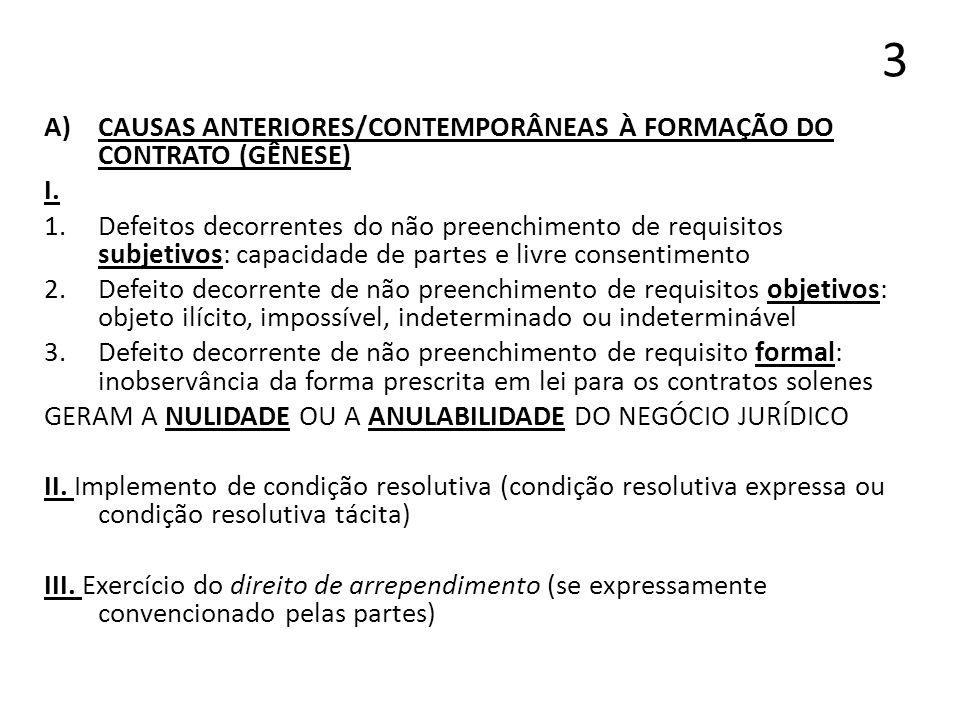 4 NULIDADE ABSOLUTA (NULIDADE APENAS) 1.Ausência de requisito essencial do contrato 2.Hipóteses: CC, art.