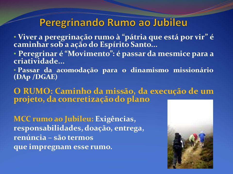 Viver a peregrinação rumo à pátria que está por vir é caminhar sob a ação do Espírito Santo... Peregrinar é Movimento: é passar da mesmice para a cria