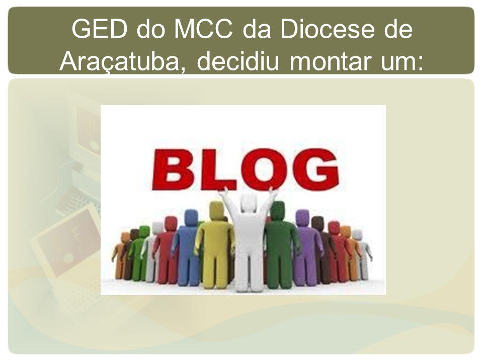 GED do MCC da Diocese de Araçatuba, decidiu montar um: