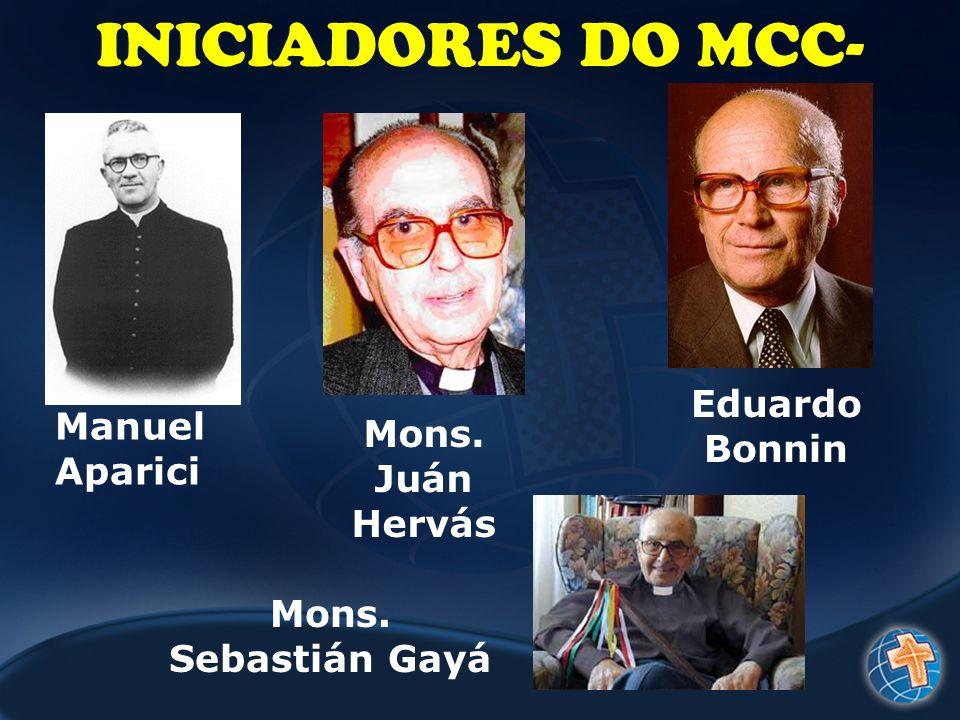 INICIADORES DO MCC- Manuel Aparici Mons. Juán Hervás Mons. Sebastián Gayá Eduardo Bonnin