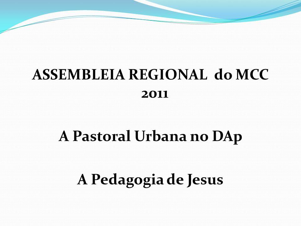ASSEMBLEIA REGIONAL do MCC 2011 A Pastoral Urbana no DAp A Pedagogia de Jesus