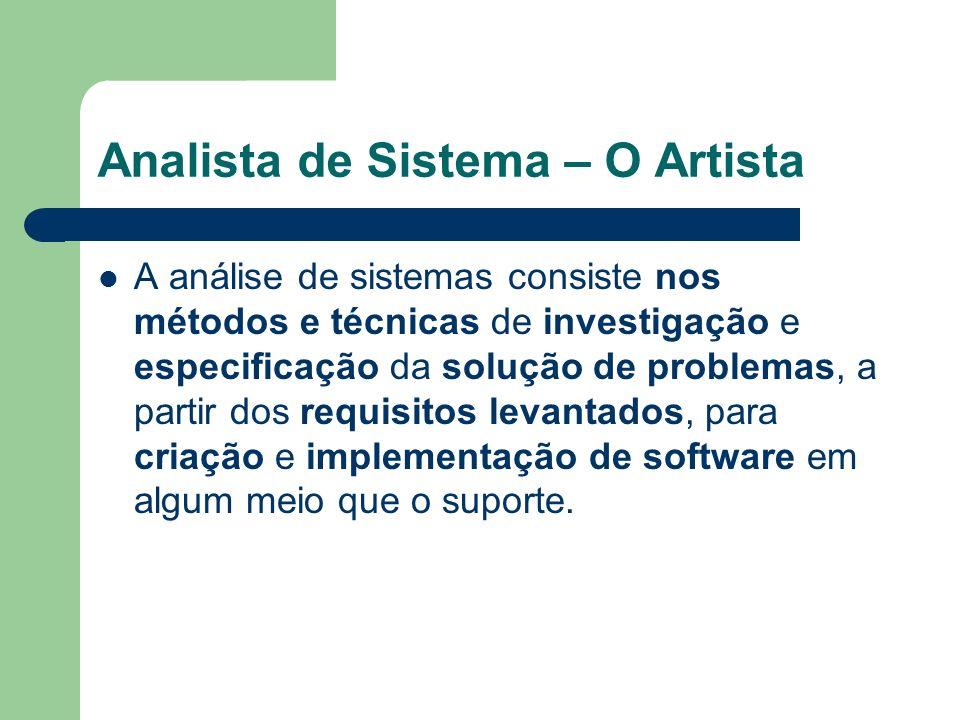 A análise de sistemas consiste nos métodos e técnicas de investigação e especificação da solução de problemas, a partir dos requisitos levantados, par
