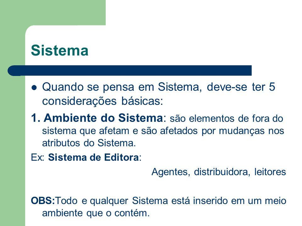Sistema 2.Objetivos do Sistema : todos os subsistemas tem um objetivo, assim como o Sistema todo.