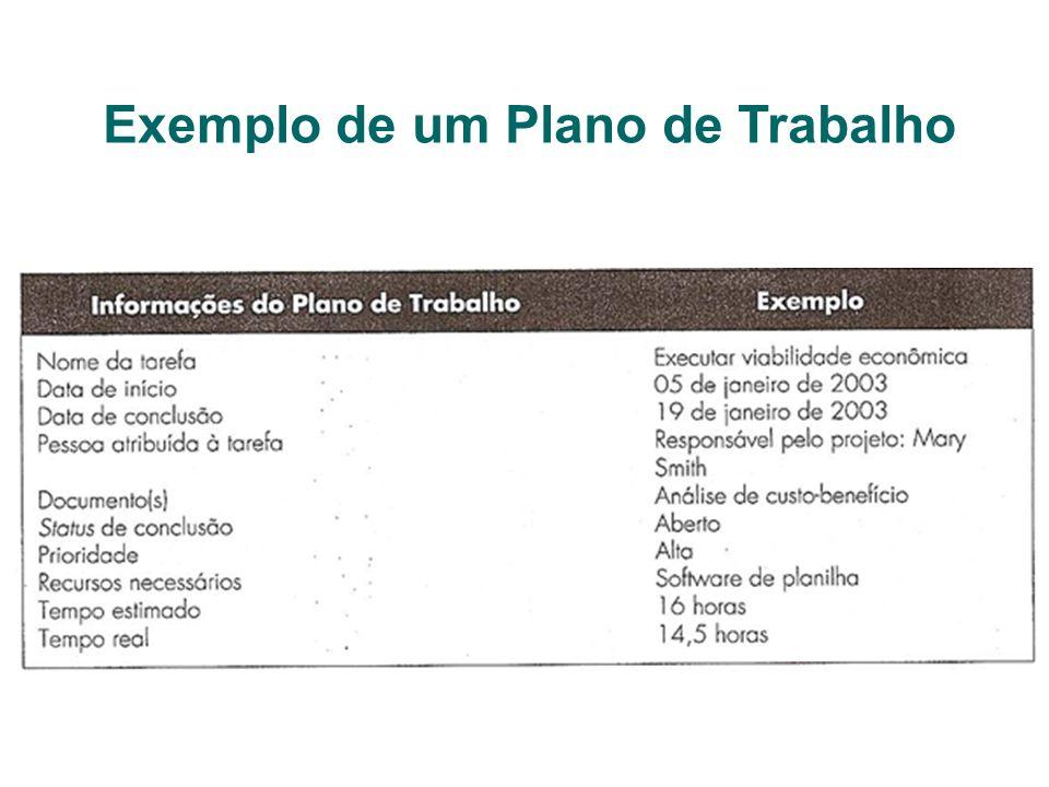 Exemplo de um Plano de Trabalho