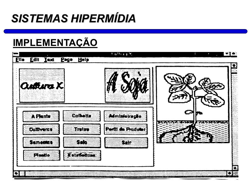 25 SISTEMAS HIPERMÍDIA EXERCÍCIO: Elabore o projeto de uma aplicação hipermídia para o setor animal (agropecuário) composto de Modelagem, Projeto de Navegação, Design Abstrato da Interface (Storyboard) e Implementação.