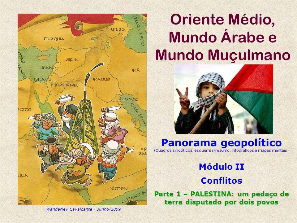 Oriente Médio, Mundo Árabe e Mundo Muçulmano Panorama geopolítico (Quadros sinópticos, esquemas-resumo, infográficos e mapas mentais) Módulo II Confli