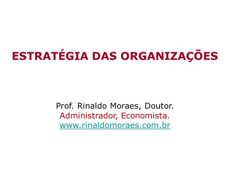 ESTRATÉGIA DAS ORGANIZAÇÕES Prof.Rinaldo Moraes, Doutor.