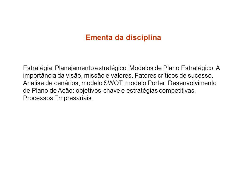 Metodologia A metodologia utilizada será de exposição dialogada, debates e estudos de caso.