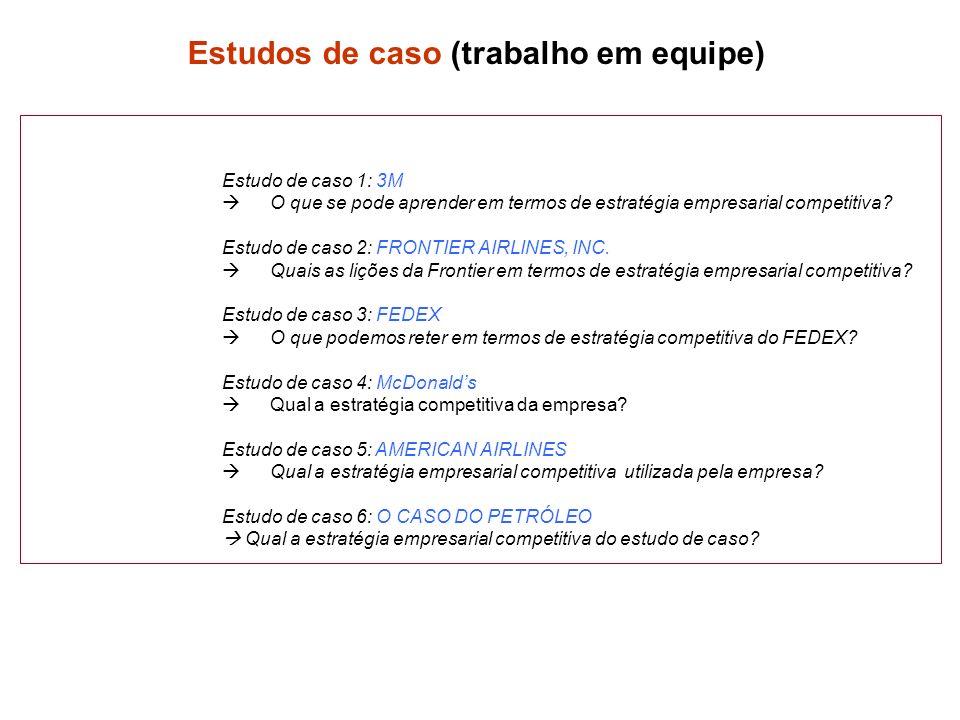 Estudo de caso 1: 3M O que se pode aprender em termos de estratégia empresarial competitiva.