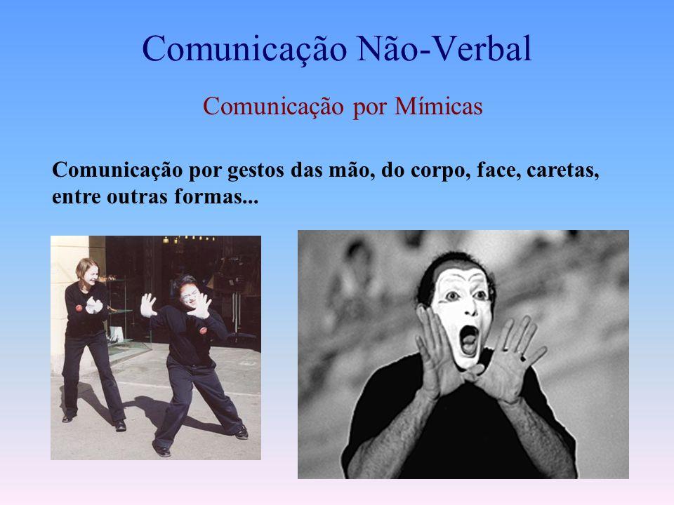 NÃO VERBAL Comunicação por mímica Comunicação pelo olhar Comunicações posturais Comunicação consciente e inconsciente