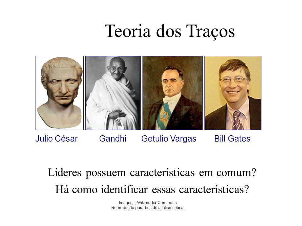 Teoria dos Traços Imagens: Wikimedia Commons Reprodução para fins de análise crítica. Líderes possuem características em comum? Há como identificar es