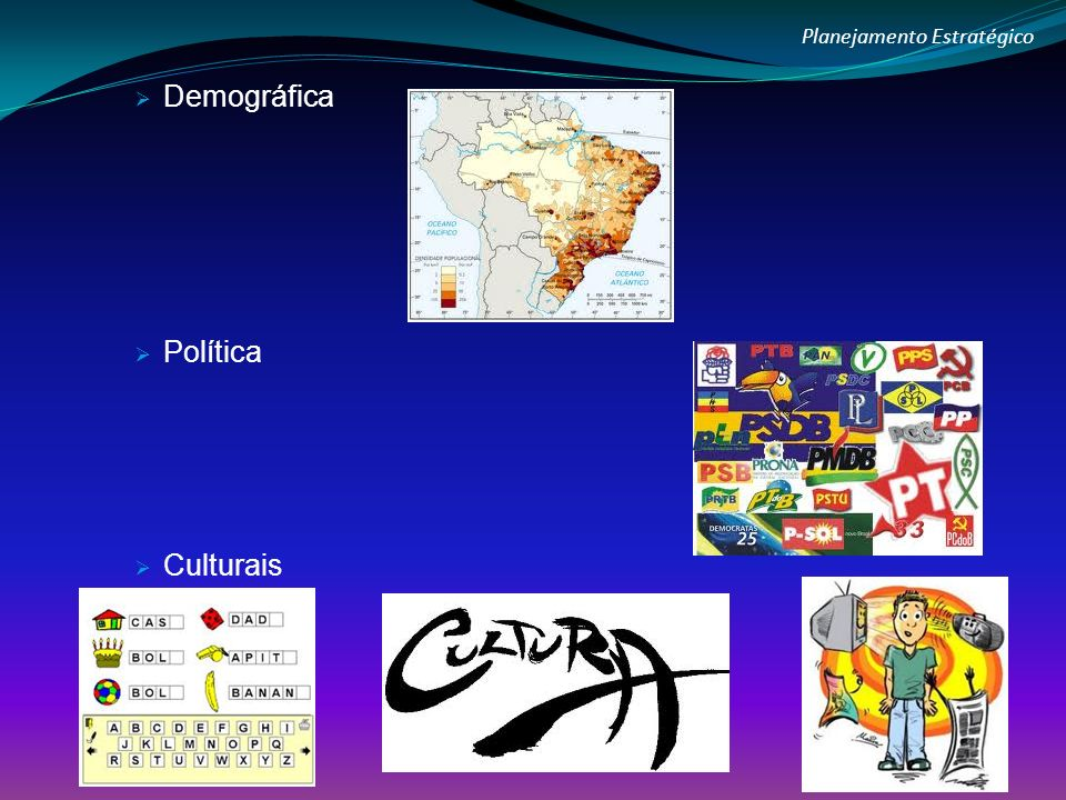 Planejamento Estratégico Demográfica Política Culturais