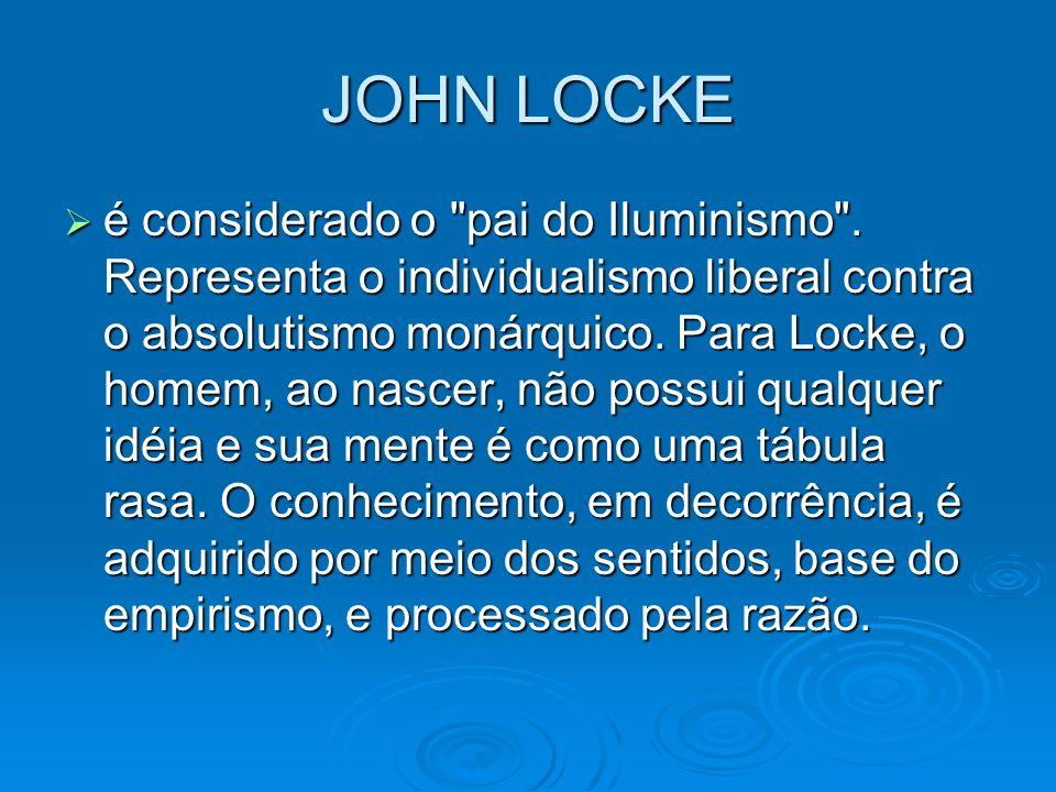 JOHN LOCKE é considerado o
