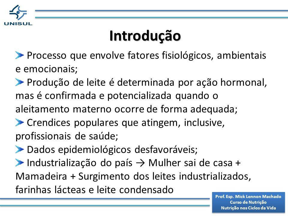 Prof. Esp. Mick Lennon Machado Curso de Nutrição Nutrição nos Ciclos da Vida Prof. Esp. Mick Lennon Machado Curso de Nutrição Nutrição nos Ciclos da V