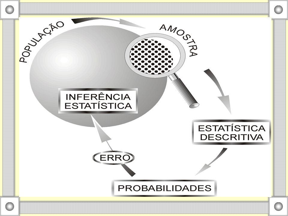 Como as informações provêm de um conjunto menor que a população, cometem-se erros ao se fazer uma inferência.
