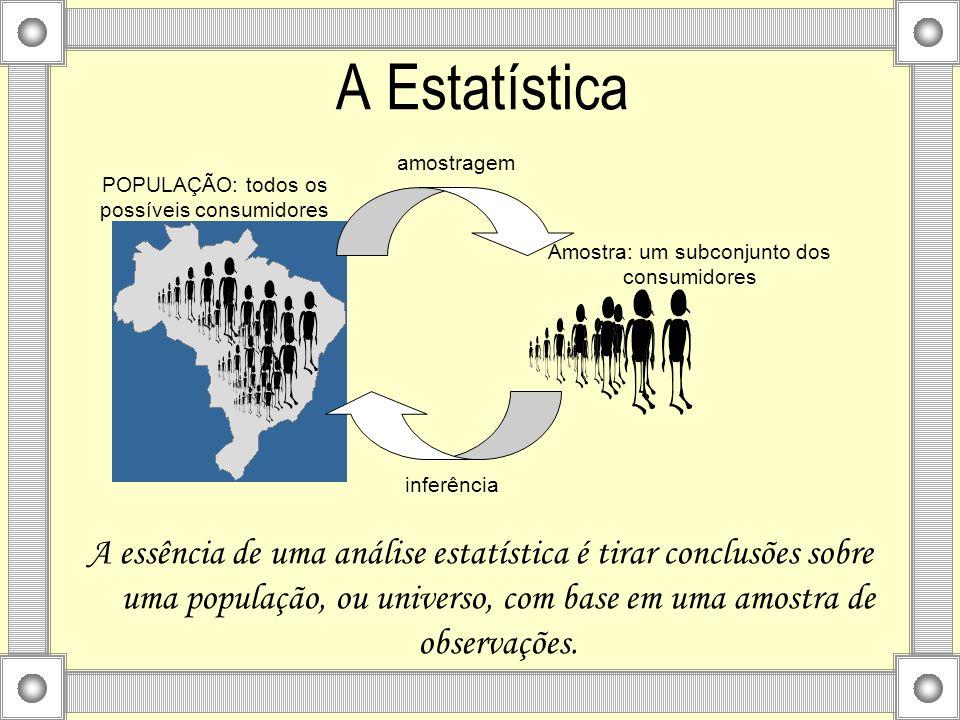A essência de uma análise estatística é tirar conclusões sobre uma população, ou universo, com base em uma amostra de observações. A Estatística POPUL