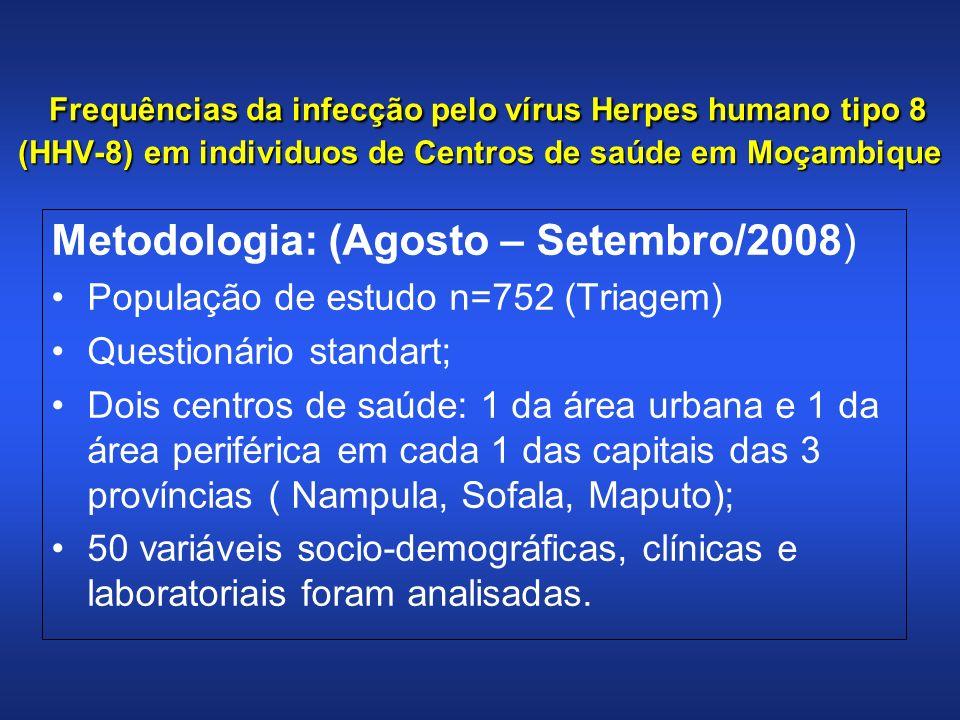 Seroprevalência de infecção por HHV-8 e HIV em Moçambique de acordo com a faixa etária