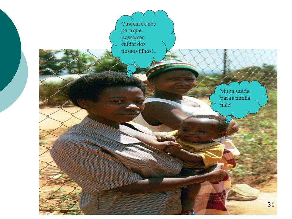 31 Cuidem de nós para que possamos cuidar dos nossos filhos!.. Muita saúde para a minha mãe!