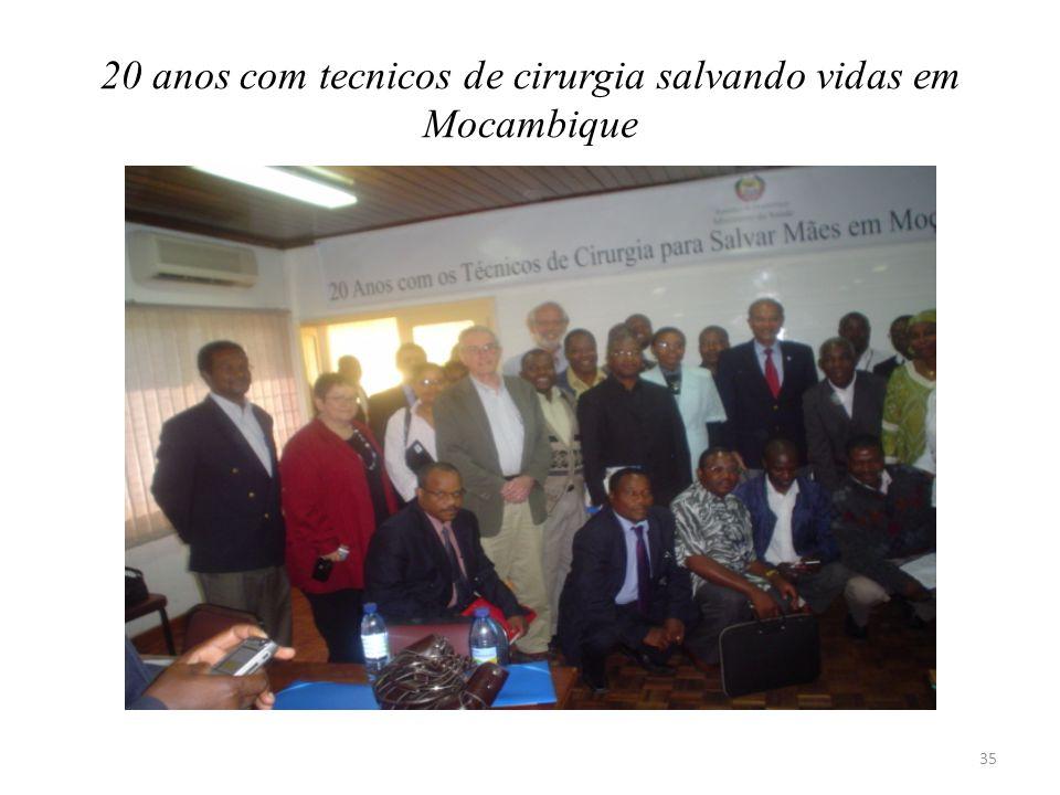 20 anos com tecnicos de cirurgia salvando vidas em Mocambique 35