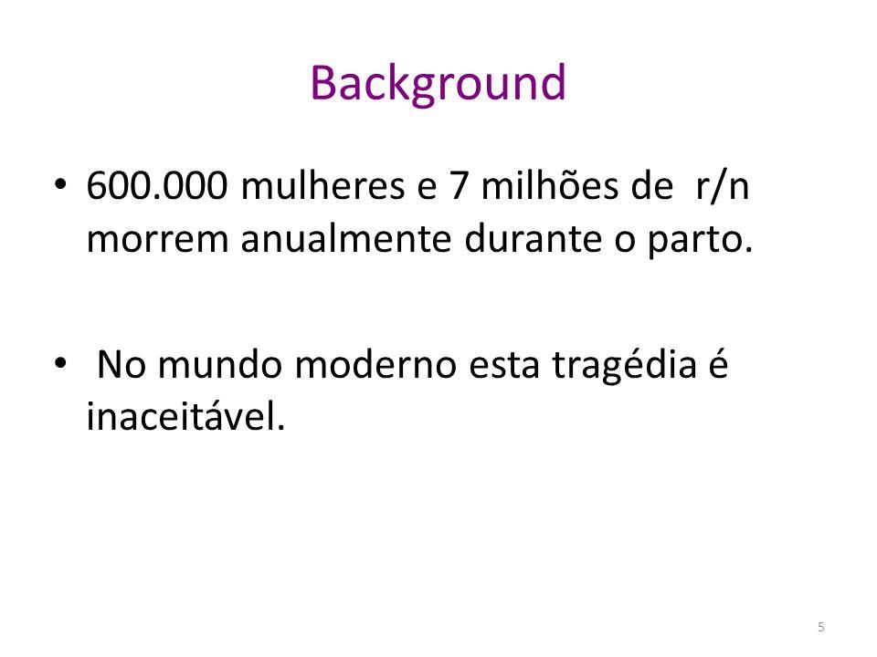 Background do País Mozambique Area: 799,440 km 2 Localização: Costa Oriental de África População em 2007: 21 millions 62% vivendo na area rural Racio de mortalidade Materna: 408/100,000 Nvs Taxa de mortalidade neonatal: 48/1,000 Nvs Taxa de Natalidade:38/1,000 hab 6