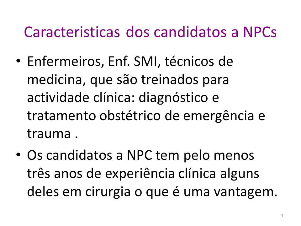 O trabalho cirurgico dos NPCs é seguro e efectivo (I) Não houve diferença significativa no pós - operatório entre 978 cesarianas realizadas por técnicos e 1,113 cesarianas realizadas por obstetras.