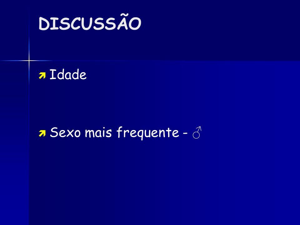 DISCUSSÃO FORMAS DE APRESENTAÇÃO Estudo de A.