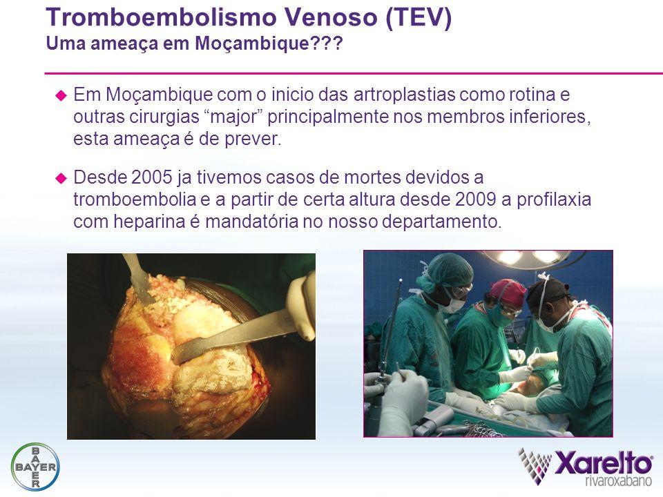 Tromboembolismo Venoso (TEV) Uma ameaça em Moçambique??? Em Moçambique com o inicio das artroplastias como rotina e outras cirurgias major principalme