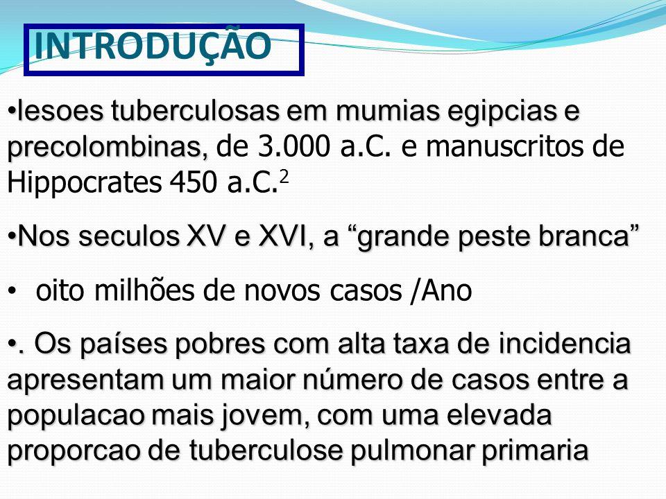 lesoes tuberculosas em mumias egipcias e precolombinas,lesoes tuberculosas em mumias egipcias e precolombinas, de 3.000 a.C. e manuscritos de Hippocra