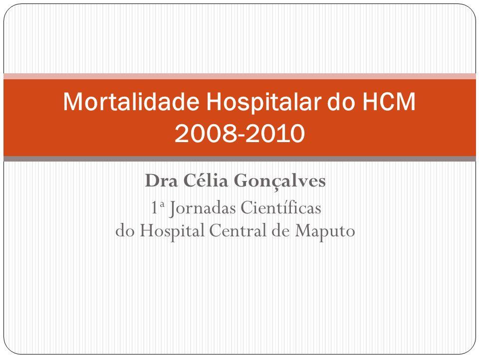 Dra Célia Gonçalves 1 a Jornadas Científicas do Hospital Central de Maputo Mortalidade Hospitalar do HCM 2008-2010