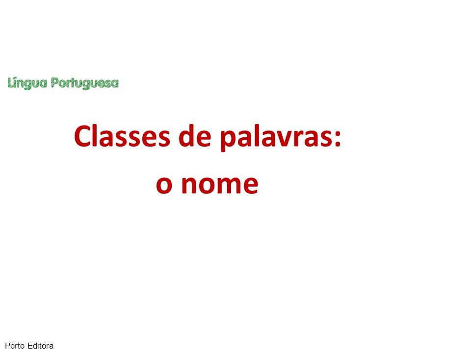 O nome pertence a uma classe aberta de palavras, o que significa que a evolução da língua acrescenta constantemente novos vocábulos a esta classe.