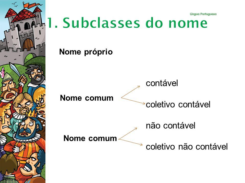Porto Editora Nome próprio contável coletivo contável não contável coletivo não contável Nome comum
