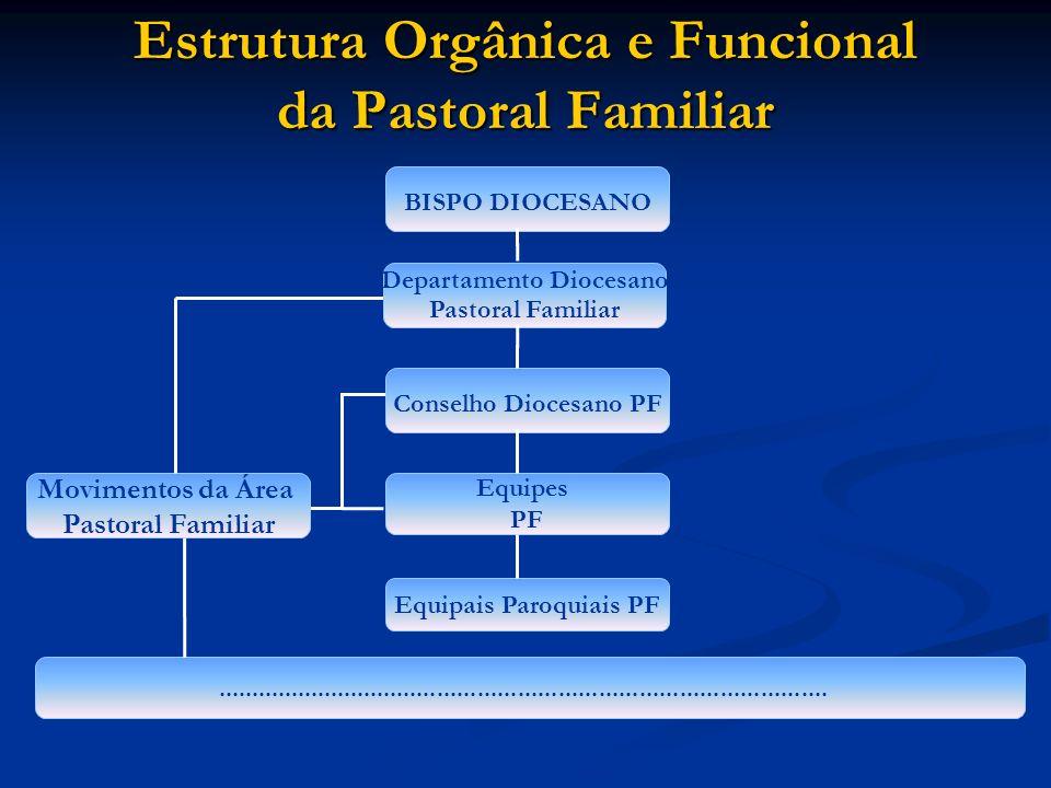 Estrutura Orgânica e Funcional da Pastoral Familiar Departamento Diocesano Pastoral Familiar..........................................................