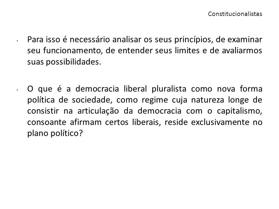 Carl Schmitt é uma referência para entender as críticas a democracia parlamentarista liberal, ao pluralismo.