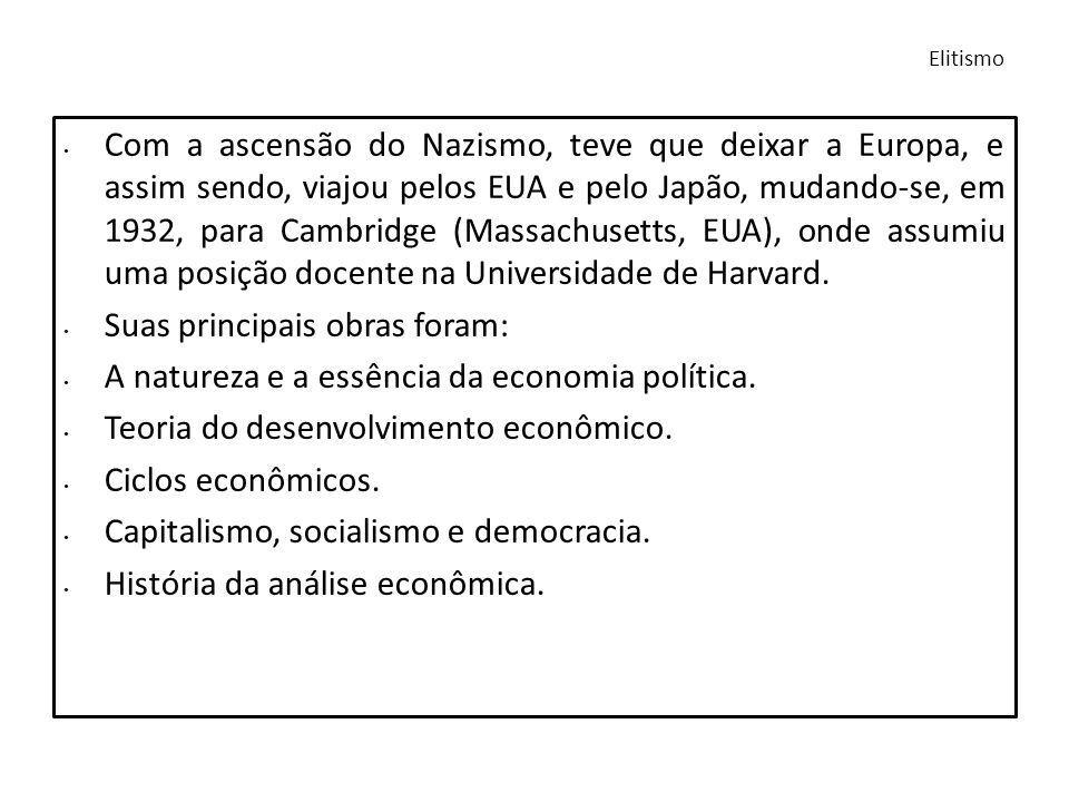 Schumpeter foi um economista que acreditava na integração entre a sociologia e a economia como uma forma de entendimento de suas teorias econômicas.