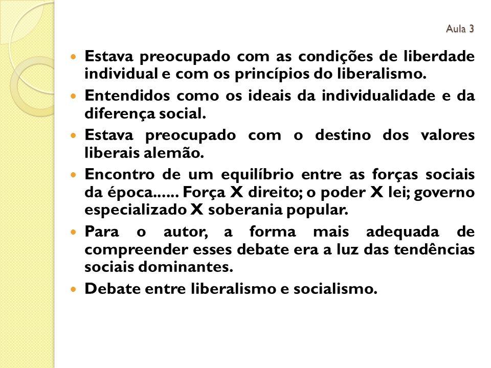 Estava preocupado com as condições de liberdade individual e com os princípios do liberalismo.