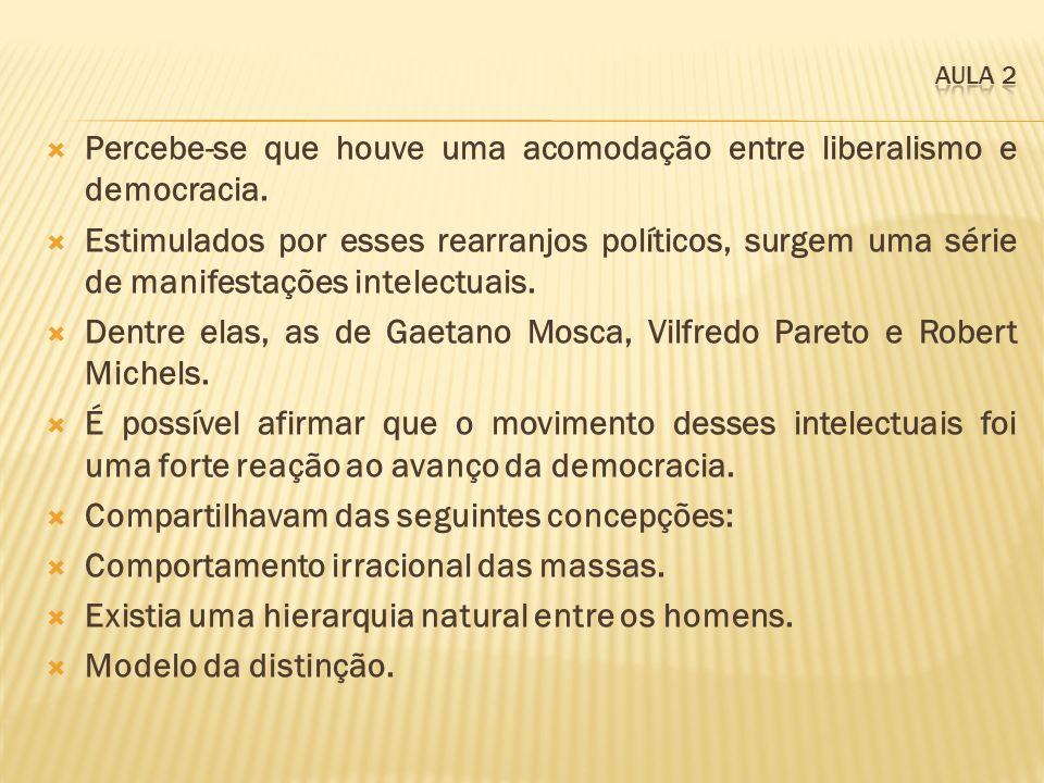 Percebe-se que houve uma acomodação entre liberalismo e democracia. Estimulados por esses rearranjos políticos, surgem uma série de manifestações inte