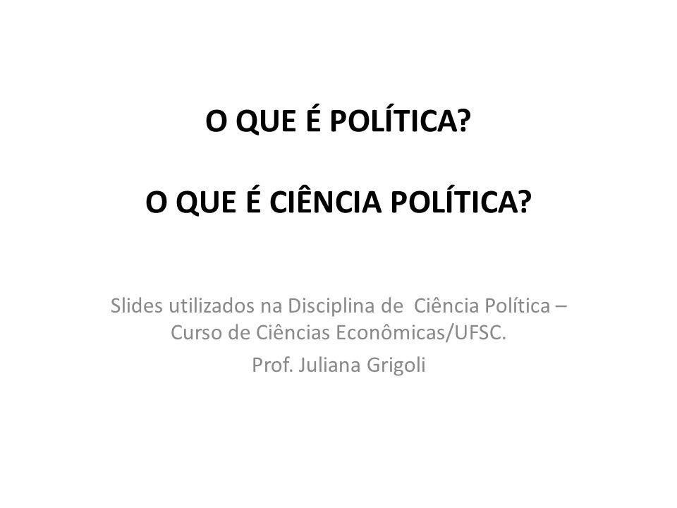 Ciência Política O que é a Política.O que é o Estudo da Política.