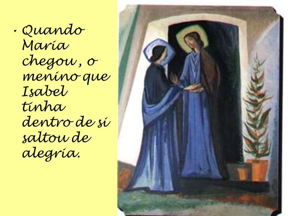 Maria disse-lhe : Irei vê-la E ajudá-la-ei em tudo: É muito maior