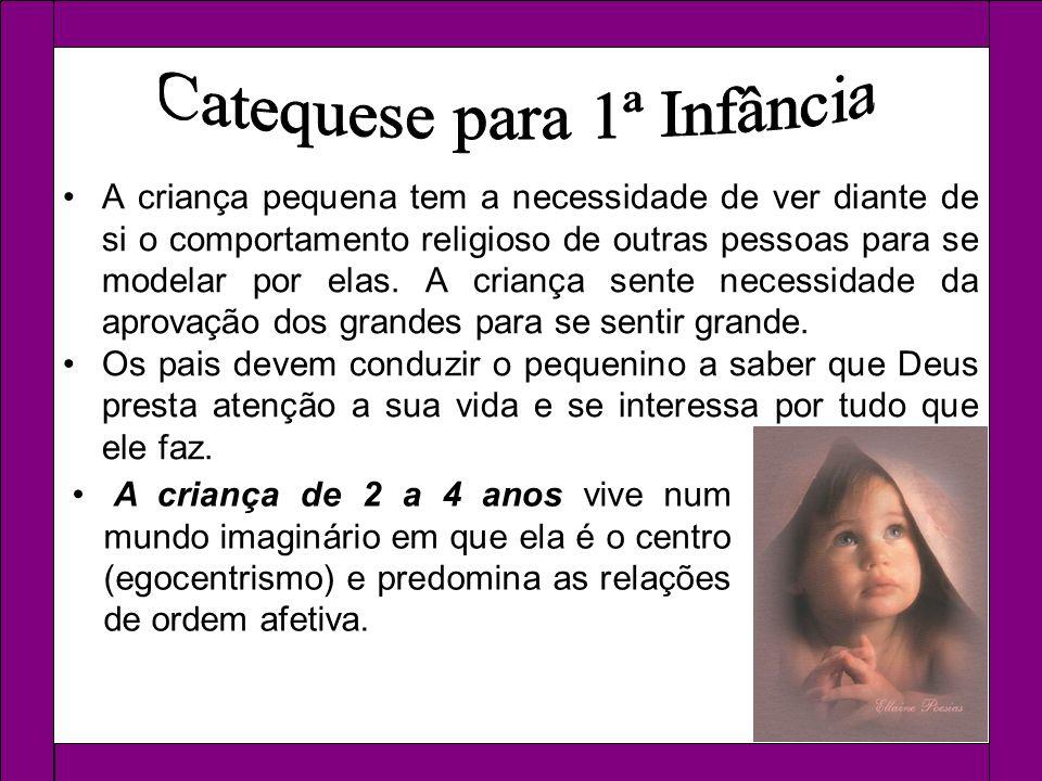A criança pequena tem a necessidade de ver diante de si o comportamento religioso de outras pessoas para se modelar por elas. A criança sente necessid