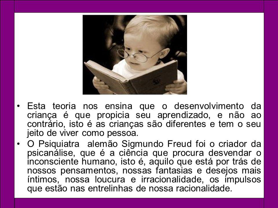 Esta teoria nos ensina que o desenvolvimento da criança é que propicia seu aprendizado, e não ao contrário, isto é as crianças são diferentes e tem o