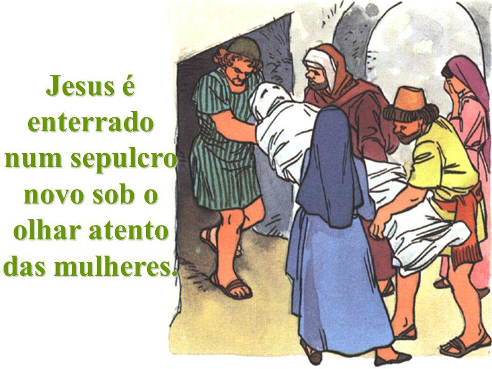 Jesus morre e a Virgem chora com grande dor. Jesus, dá-me dor pelos meus pecados e que não te ofenda mais.