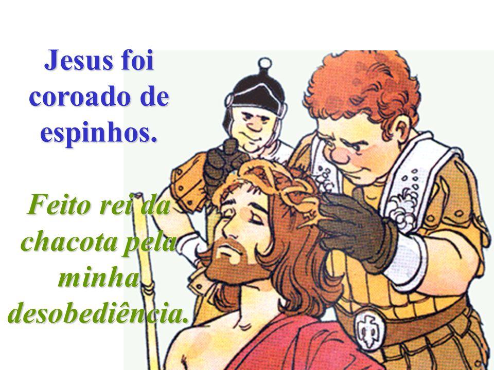 Na Sexta-feira Santa, Jesus foi açoitado. São os meus pecados que te magoam, Jesus.