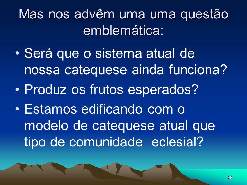 21 Número 29 do DGC.... E no Brasil? E em nossa Arquidiocese? Em nossas paróquias?
