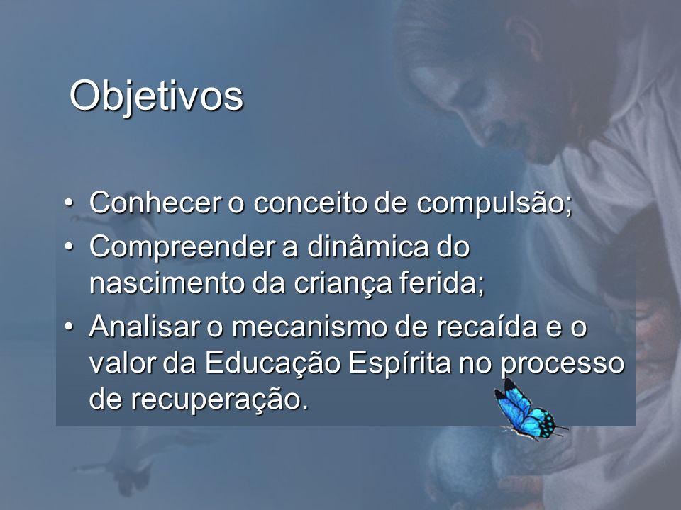 Objetivos Conhecer o conceito de compulsão;Conhecer o conceito de compulsão; Compreender a dinâmica do nascimento da criança ferida;Compreender a dinâ